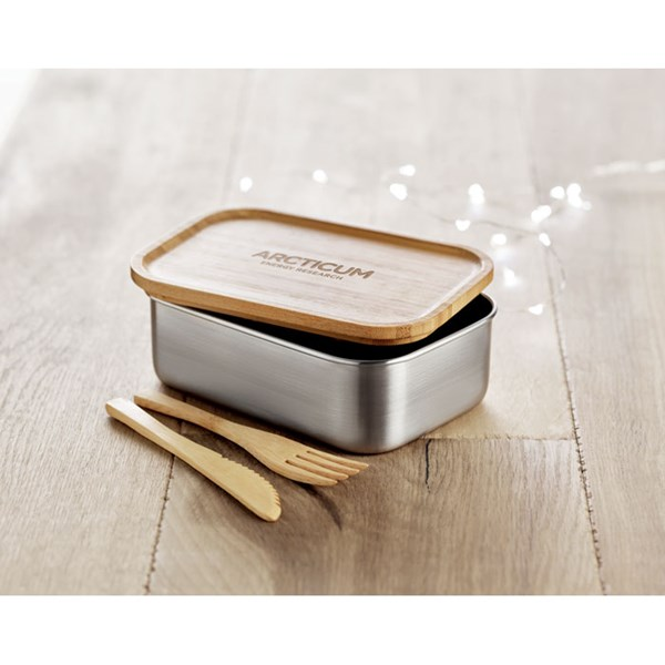 lunch box en acier bambou