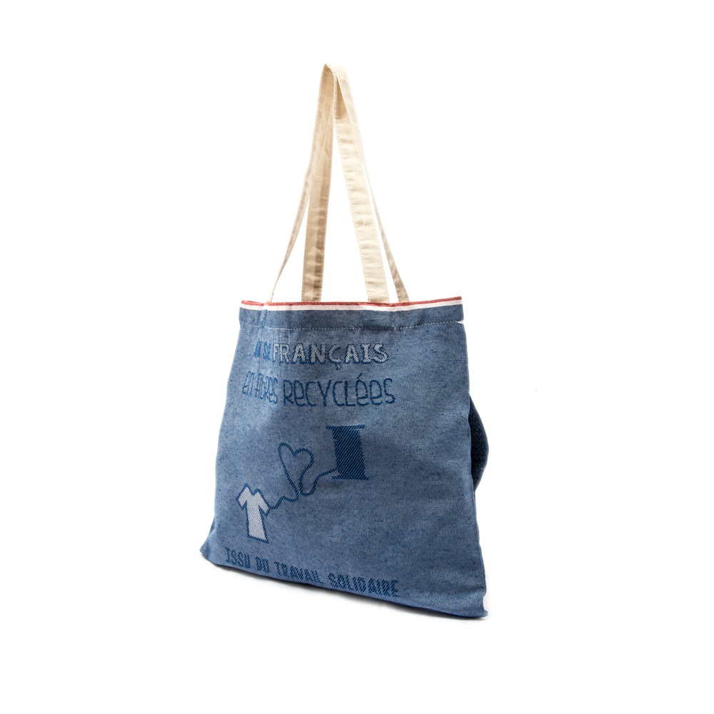 Tote bag pliable avec poche Indispensac