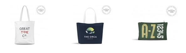 Trousse, sac shopping et tote bag en Seaqual® yarn